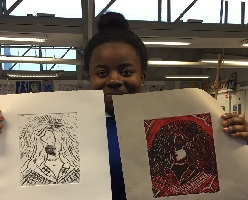 Print Making Workshop with Colaiste Eoin